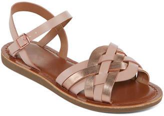 Arizona Womens Moslie Ankle Strap Flat Sandals