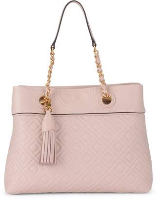Tory Burch Fleming Small Pink Quilted Leather Tote