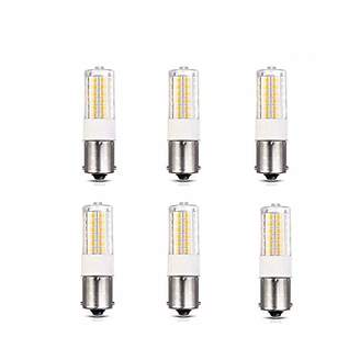 Makergroup 12VAC/DC Low Voltage 3Watt BA15S S8 SC Bayonet Single Contact Base 1156 1141 LED Light Bulb 2700K-3000K for Outdoor Landscape Lighting Path Lighting Deck Lighting(6-Pack