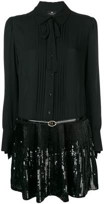 Elisabetta Franchi sequin embellished shirt dress