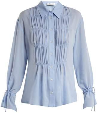 Altuzarra Chateau ruched-front blouse