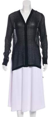 Helmut Lang Sheer Button-Up Tunic
