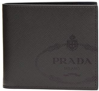 Prada Saffiano Leather Bi Fold Wallet - Mens - Grey Multi