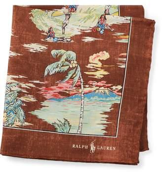 Ralph Lauren Hawaiian Silk Pocket Square