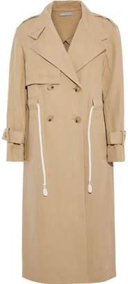Vince Cotton And Linen-blend Gabardine Trench Coat