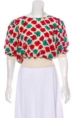 Ungaro Emanuel by Patterned Rib Knit Blouse