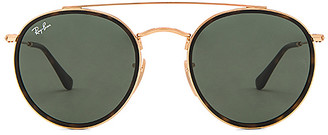 Ray-Ban Round Double Bridge in Metallic Gold. $160 thestylecure.com