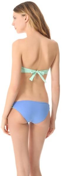 L-Space Knotted Fringe Bandeau Bikini Top