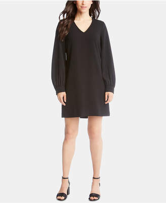 Karen Kane Blouson-Sleeve V-Neck Dress