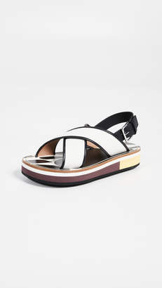 Marni Beach Crisscross Wedges