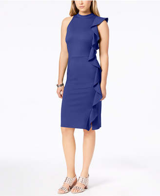Bar III Ruffle Ponte-Knit Sheath Dress, Created for Macy's