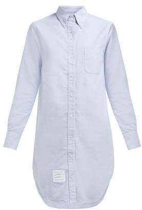 Thom Browne Oxford Cotton Shirtdress - Womens - Light Blue