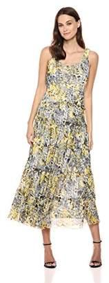 Nine West Women's Multi Tier Drop Waste LINE Tank Maxi Dress