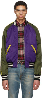Gucci Purple Needlepoint Pony Bomber Jacket