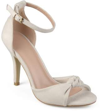 Co Brinley Womens Faux Suede Knot Ankle Strap High Heels