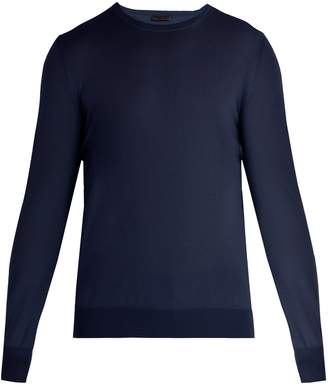 Bottega Veneta Intrecciato-trim wool sweater