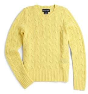 Ralph Lauren Girl's Cable-Knit Cashmere Sweater