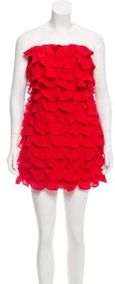 Leifsdottir Strapless Ruffled Dress