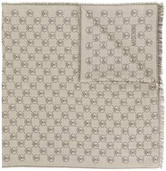 Moschino logo jacquard scarf