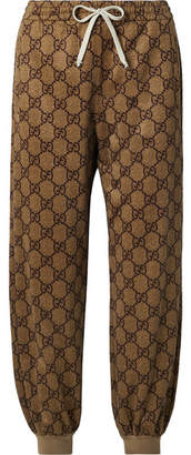 Gucci Printed Tech-jersey Track Pants - Tan