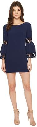 Laundry by Shelli Segal Shift Dress with Bell Sleeve Women's Dress