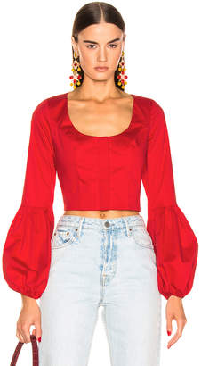 Alexis Ottera Top in Scarlet Red | FWRD