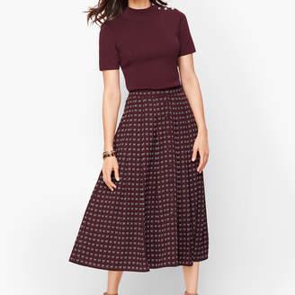 Talbots Dotty Bows Midi Skirt