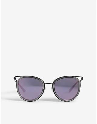 Michael Kors Havana cut-out cat-eye frame sunglasses