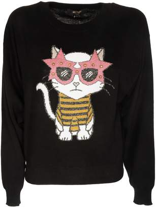 147ceb0e Twin-Set Twinset Intarsia Cat Sweater