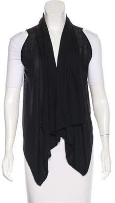 Theory Linen-Blend Draped Vest