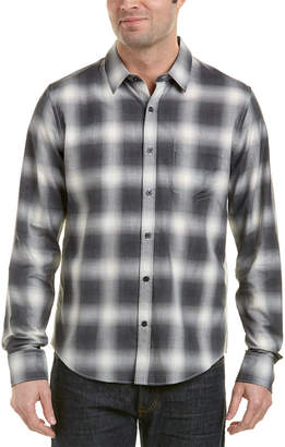 Vince Shadow Plaid Woven Shirt