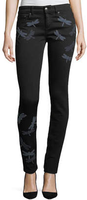 RED Valentino Dragonfly Patch Skinny Jeans
