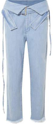 Marques Almeida Marques' Almeida - Belted High-rise Jeans - Light denim