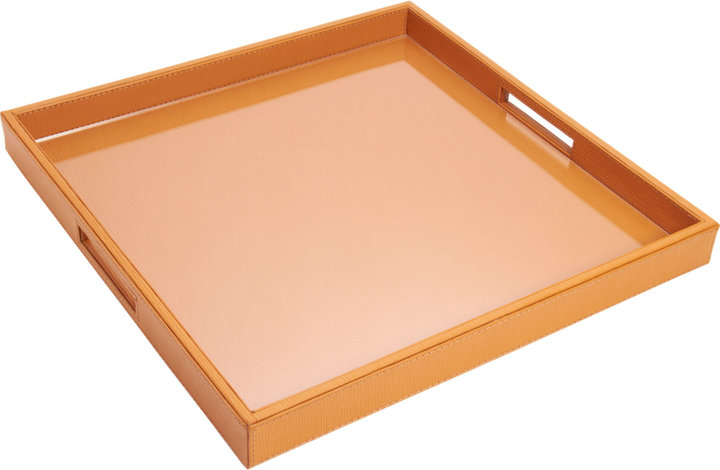 Barneys New York Square Leather Tray