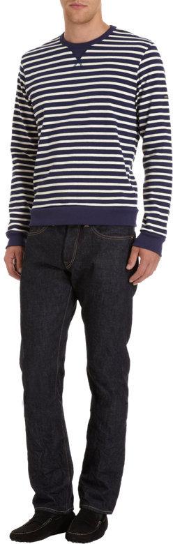 Barneys New York Saint James x Striped Sweatshirt