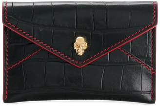 Alexander McQueen skull envelope cardholder