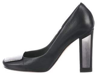 Christian Dior Leather Embellished Pumps