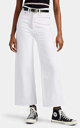 RE/DONE Women's The '60s Extreme Wide-Leg Jeans - White