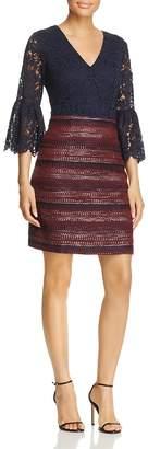 Nanette Lepore nanette Lace-Bodice Bell Sleeve Dress