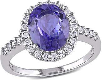 MODERN BRIDE Purple Tanzanite 14K Gold Engagement Ring