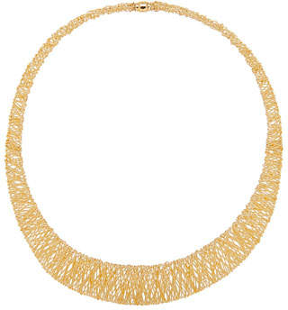 Milani Alberto Graduated Mesh Collar Necklace in 18K Gold
