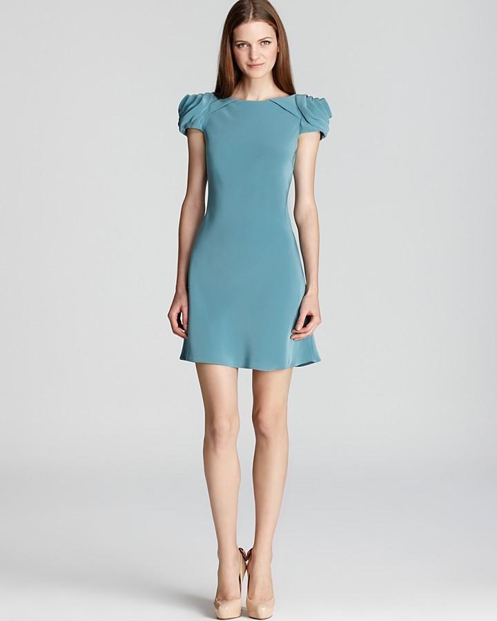 ABS by Allen Schwartz Short Dress - Rosette Open Back