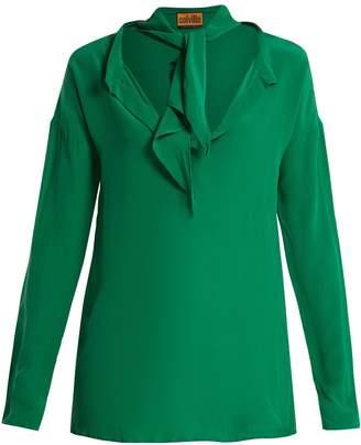 COLVILLE Neck-tie silk blouse