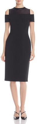 Lafayette 148 New York Cold Shoulder Sheath Dress $648 thestylecure.com