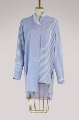 Loewe Asymmetrical patchwork shirt