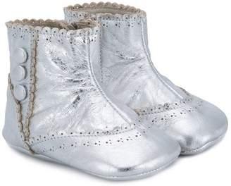 Pépé scalloped trim boots