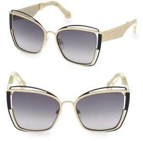 Roberto Cavalli 57MM Square Cat Eye Sunglasses