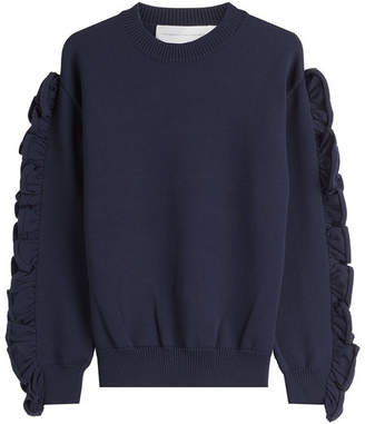 Victoria Beckham Victoria Pullover with Ruffled Sleeves