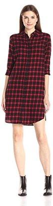 Eleven Paris Women's Tartan Plaid Shirt Dress $98 thestylecure.com