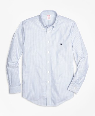 Brooks Brothers Non-Iron Madison Fit Oxford Stripe Sport Shirt
